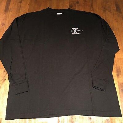 VTG THE X FILES Long Sleeve Shirt RARE Stanley Desantis 90s XL Embroidered Promo