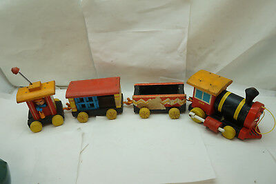 VINTAGE FISHER PRICE LITTLE PEOPLE HUFFY PUFFY TRAIN NO 999 1960s MOVING EYES d