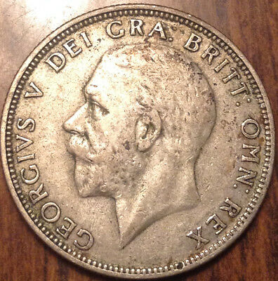 1935 Uk Gb Great Britain Florin .500 Silver