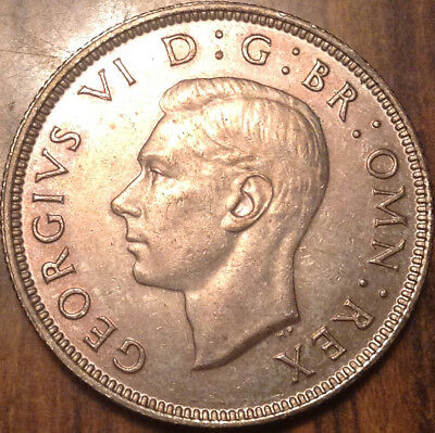 1937 Uk Gb Great Britain Two Shillings .500 Silver In High Grade