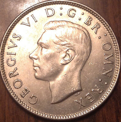 1942 Uk Gb Great Britain Two Shillings .500 Silver Uncirculated