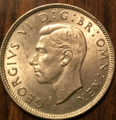 1942 Uk Gb Great Britain Two Shillings .500 Silver Choice Uncirculated