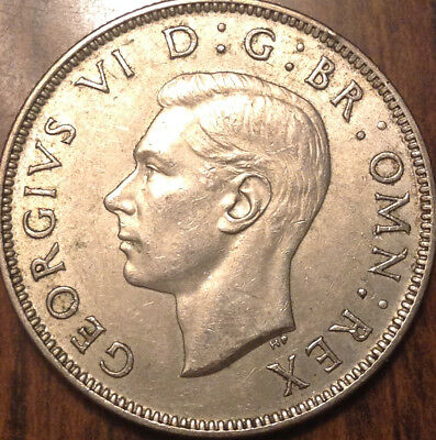 1945 Uk Gb Great Britain Two Shillings .500 Silver Best Of Circulated Condition