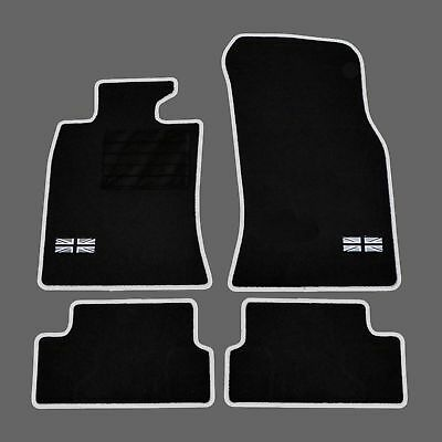 4 Tapis Sol Mini R56 One Cooper 2006-2013 Moquette Sur Mesure Logo Flag Uk + C