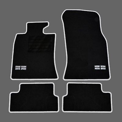 Tapis Sol Moquette Sur Mesure Logo Flag Uk + C Mini R56 One Cooper 2006-2013