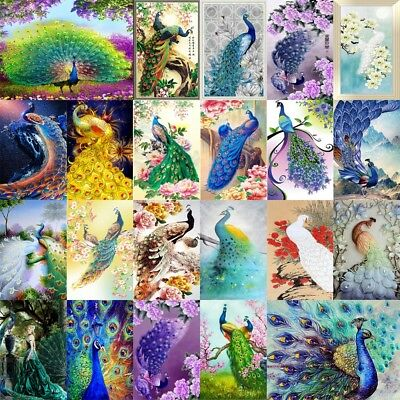 DIY 5D Diamond Painting Embroidery Animal Peacock Cross Craft Stitch Kit Decor