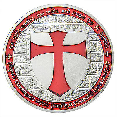 Silver Iron Red Cross Sword Red Knight Commemorative Coin Collection Gift New.