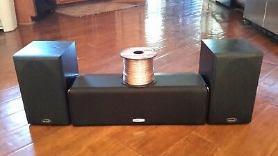 Polk Audio T15 Bookshelf Speakers Black Ash Left And Right