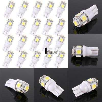 20PCS T10 5050 5SMD White LED Car Light Wedge Lamp Bulbs Super Bright DC12V UK