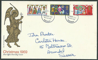 1969 Christmas full set First Day Cover Bromley