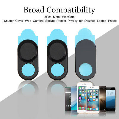 3Pcs Privacy Protect Sticker Webcam Camera Secure Cover For Smartphone Laptop BT