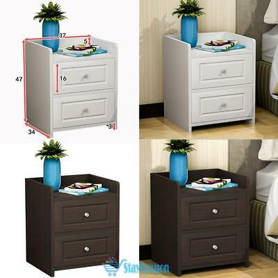 Chic Nightstand Bed Side Table Cabinet Bedside Drawer Wooden Furniture Cabinet