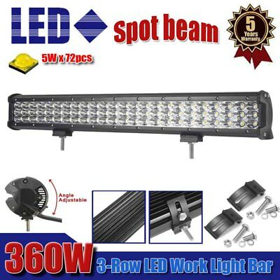 23inch 360W CREE Led Work Light Bar Spot Beam Offroad Driving Lamp Truck 4WD SUV