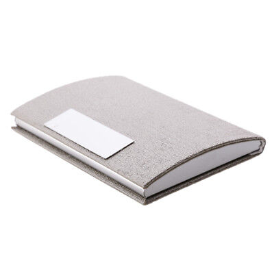 Men Women Credit ID Business Card Holder Luxury Proffessional Silver
