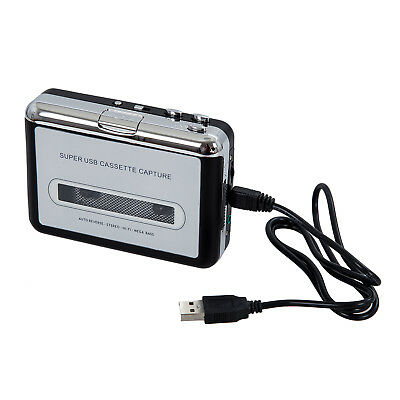 10X(USB Portable Handheld Super Tape to PC USB Cassette-to-MP3 Converter F1R3