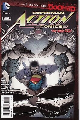 ACTION COMICS    31    .....2014...  NM- ..Superman Doomed [Infected... Bargain!