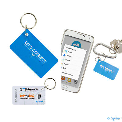 NFC Tags - 5 x Business Key Tag | Exchange info more conveniently | NTAG216 Chip
