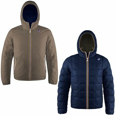 K-Way Jacques Thermo Plus Double Uomo Kway 2017 Walnut Depht Blue K001K40 904