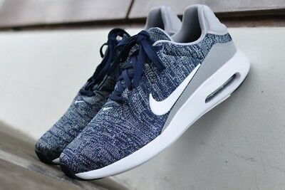f1823ed1b70 Nike Air Max Modern Flyknit 876066 400 College Nvy-Wht Men s Running Shoes  Sz 13