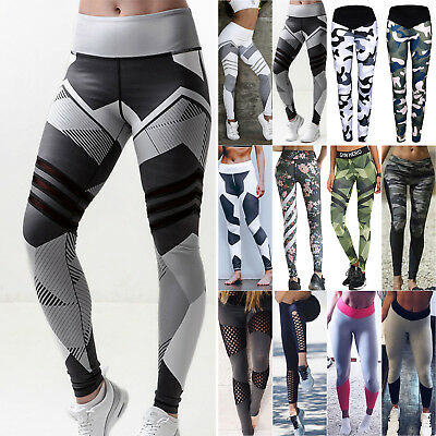 Damen Leggings Tights Sporthose Laufhose Fitness YOGA Training Jogging Leggins