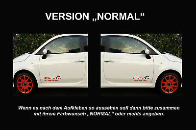 Fiat 500 C Logo Tür  Aufkleber Sticker Folie Logo Limited Edition 2er Set li+re