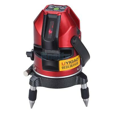 360° Rotary Self Leveling Laser Level 5 Line 1 Point Automatic Measring