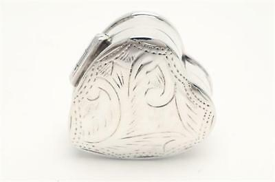 Heart Shaped Pill Box Sterling Silver