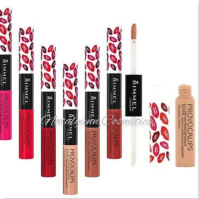 Rimmel Provocalips / Kiss & Stay 16HR Kissproof Lip Colour All Shades FREE POST