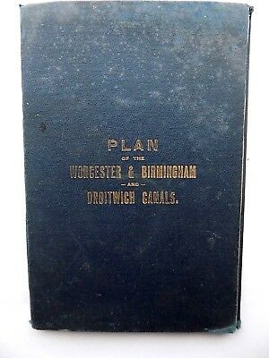 1893 Plan Worcester Birmingham Droitwich Canals Waddy Sharpness Old Antique Map