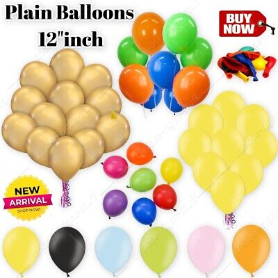 "Wholesale 12/"" x 100 large plain latex Balloons christmas xmas party decoration"