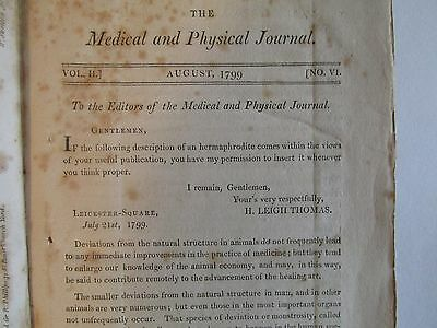 The Medical and Physical Journal, 1799, Opium, Drugs, Narcotics, Belladonna