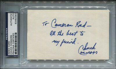 Chuck Connors - Autograph Note Signed