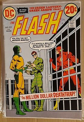 The Flash #219 (1973 - Dc Comics - Cents Copy,pence Stamp - Vg+)