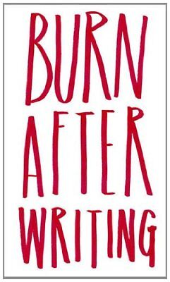 Burn After Writing by Jones, Sharon Book The Fast Free Shipping