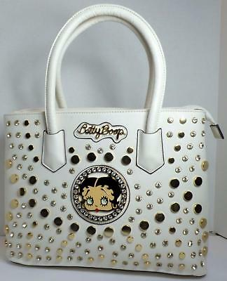 Betty Boop Bling Faux Leather Purse Handbag Satchel Official Licensed White