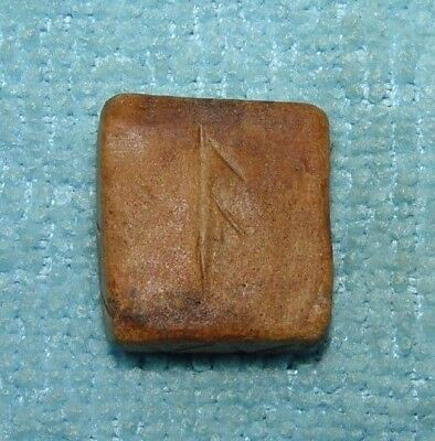 ANCIENT VIKING SCANDINAVIAN STONE VOTIVE ENGRAVED AMULET 10th Century AD - D546