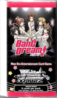 Weiss Schwarz TCG BanG Dream English 20 pack Booster Box Sealed New Fast Ship