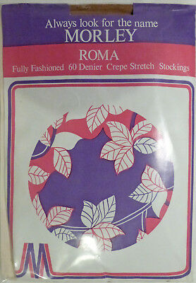Morley Roma Extra Large Size Vintage 60 Denier Fully Fashioned Seamed Stockings