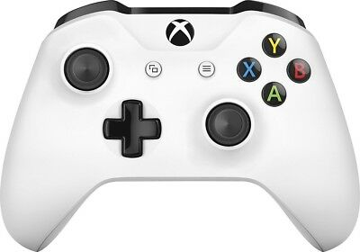 Official Microsoft Xbox One S Controller Wireless White Bluetooth Windows 10