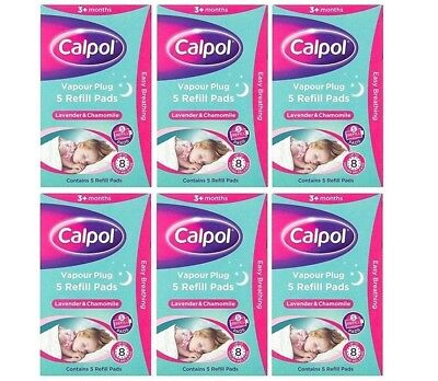 Calpol Soothe & Care Vapour Night Plug In 5 Refills Cold and Nasal block