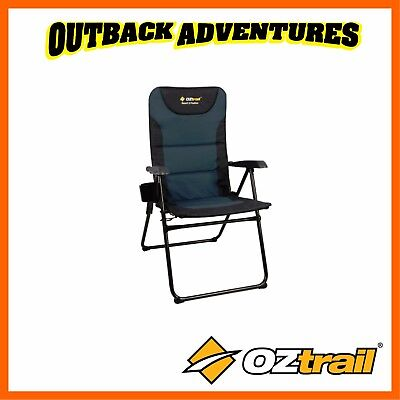 Oztrail Resort 5 Position Reclining Camping Arm Chair - Blue