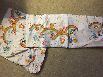 CareBear Twin Sheet Set (fitted & flat) Vintage 1980s Rare Excellent Condition