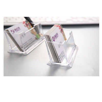 5pcs Acrylic Plastic Desk Stand Clear Desktop Business Card Holder Display Stand