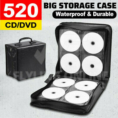 520 Disc DVD CD Storage Case Album Folder Wallet Carry Bag Organizer AU