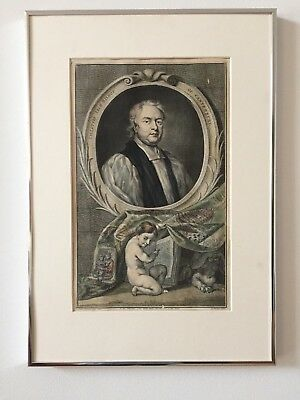 ANTIQUE ENGRAVING, ARCHBISHOP OF CANTERBURY TILLOT, JACOBUS HOUBRAKEN, 1700s