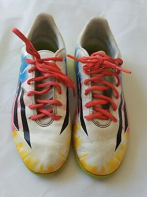 uk availability 94c38 e3ae5 Adidas F10 IN Messi Indoor Soccer Shoes BlueVivid BerrySolar Slime mens sz