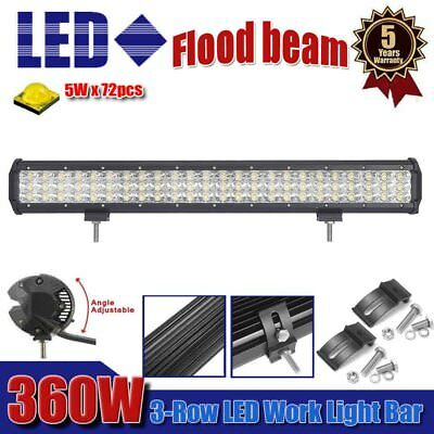 23inch 360W CREE Led Work Light Bar Flood Beam Offroad Driving Lamp Truck 4WD AU