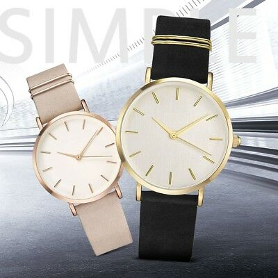 Fashion Ladies Women's Stainless Steel Watches Leather Quartz Analog Wrist Watch