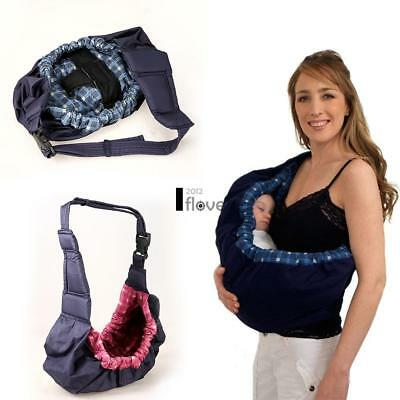 Infants Baby Adjustable Soft Pouch Front Sling Carrier Ring Wrap Nursing ILOE