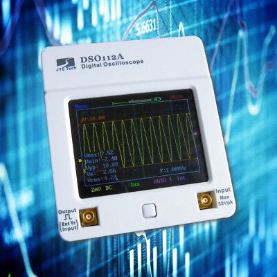 DSO112A TFT Touch Screen Mini Digital Oscilloscope USB Interface 2MHz + Battery